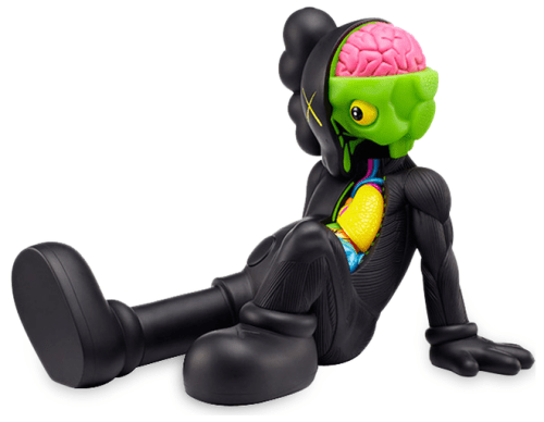 somethingtoseeorhear:   KAWS Companion: Resting Place (Black), 2013