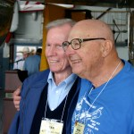 RIch Ziebart and Ted Logan (Banquet Speaker and B-17 Pilot 817th Bomb SQ.