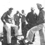 CO Maj Larson-MSGT Wethgrald-Capt Brown Adjutant