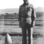 Frank Tracy next to Unexploded Bazooka Shell-Corsica
