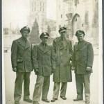 Dave Diehl, Bob King, Pete ?? and Carl Gronberg in Avignon, France 1945