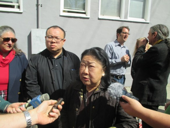 """Rose Pak, who helped put Ed Lee in office, told reporters he is """"isolated"""" and listens only to tech money"""