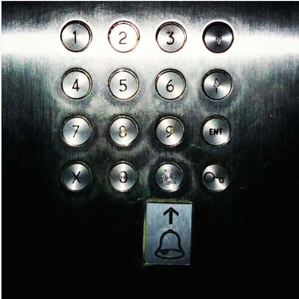 Why does a bell make sense in an elevator? Photo by Marc Weidenbaum.