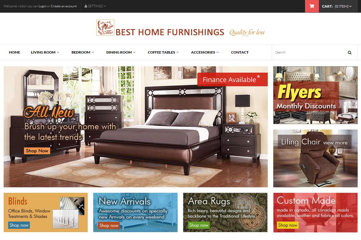 Best Home Furnishings Furniture E Commerce