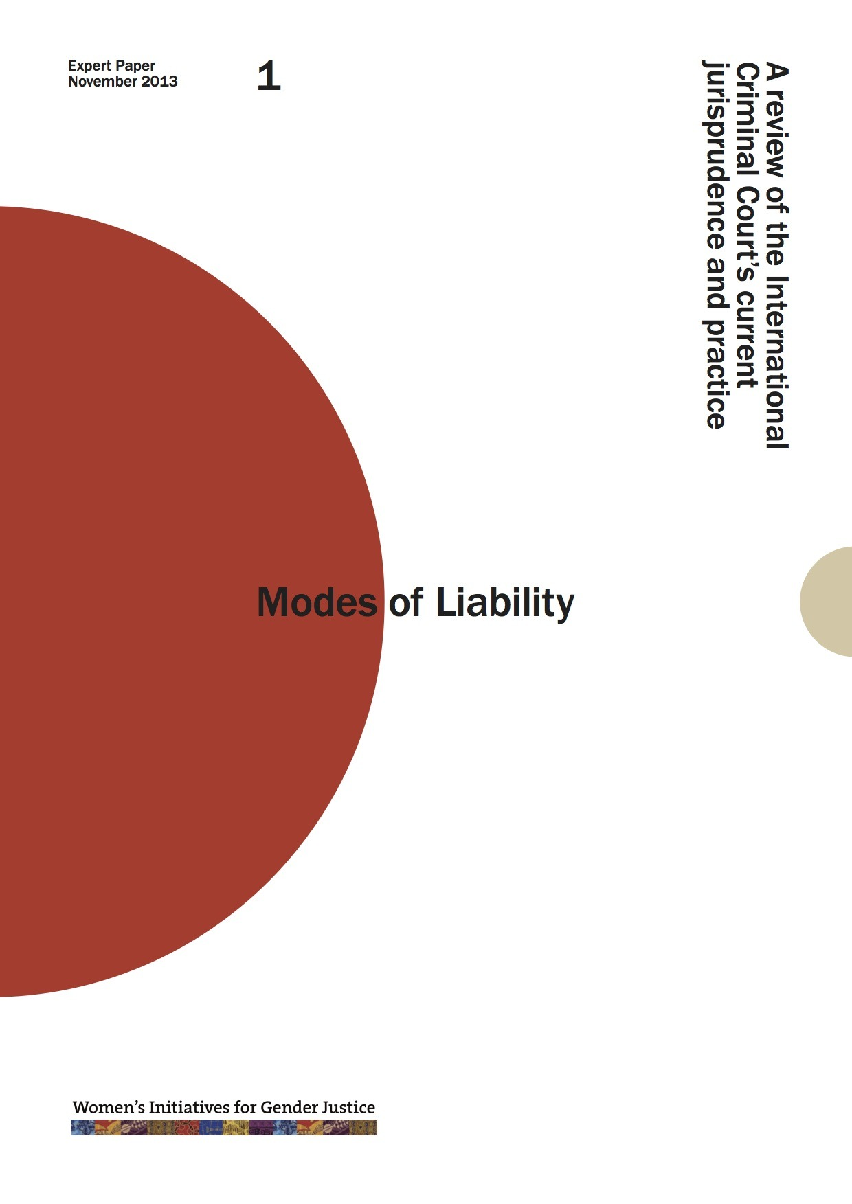 Modes of Liability: Expert Report