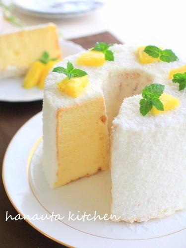 ココナッツオイル入りの絶品シフォンケーキ