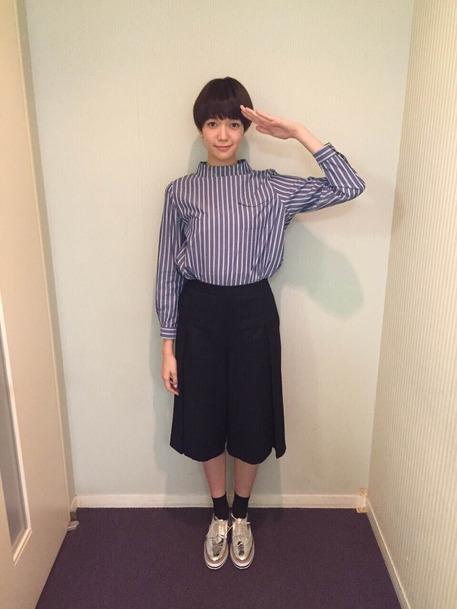 """佐藤栞里さんの""""ピュアモテ""""ファッション③ ストライプ・ボーダー"""
