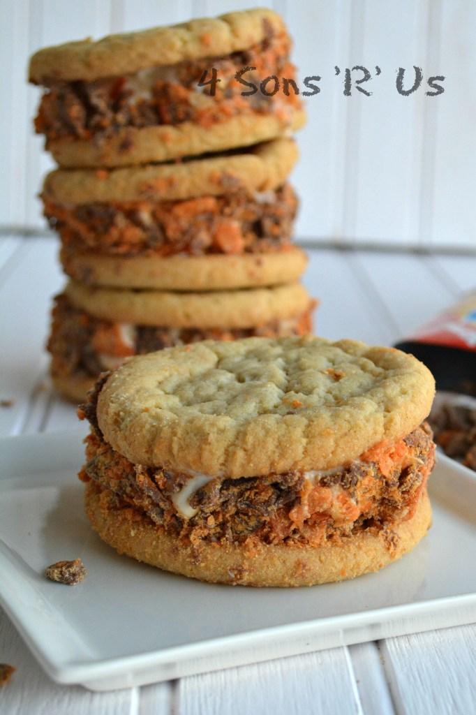 Butterfinger Cookie Ice Cream Sandwiches