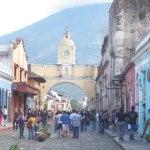 Famous land mark in Antiqua Arco de Santa Catalina