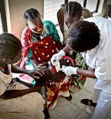 A child getting treated at the Juba Teaching Hospital in Juba, South Sudan. (Source: www.thenational.ae)