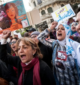 A woman's rally in Cairo supporting the role of women in the Egyptian revolution. (Source: www.thedailybeast.com)