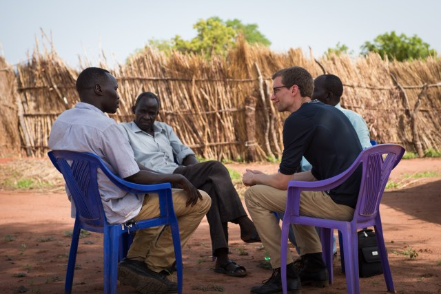 Mark Hackett, meeting with leaders in South Sudan