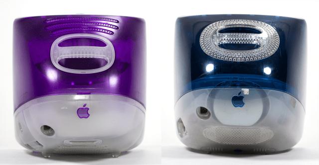 Grape and Indigo iMacs