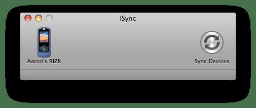 iSync 3 in Mac OS X 10.5 Leopard