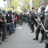 Seattle May Day Protest - Black Bloc Starts Fires And Riots, Terrorizes Businesses