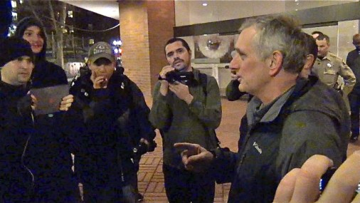 Mayor Charlie Hales Engages Anarchists