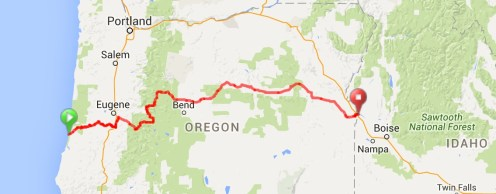 ROUTE ACROSS OREGON