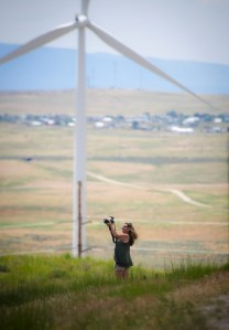MELODY SHOOTING WINDMILLS FROM PHILLIP