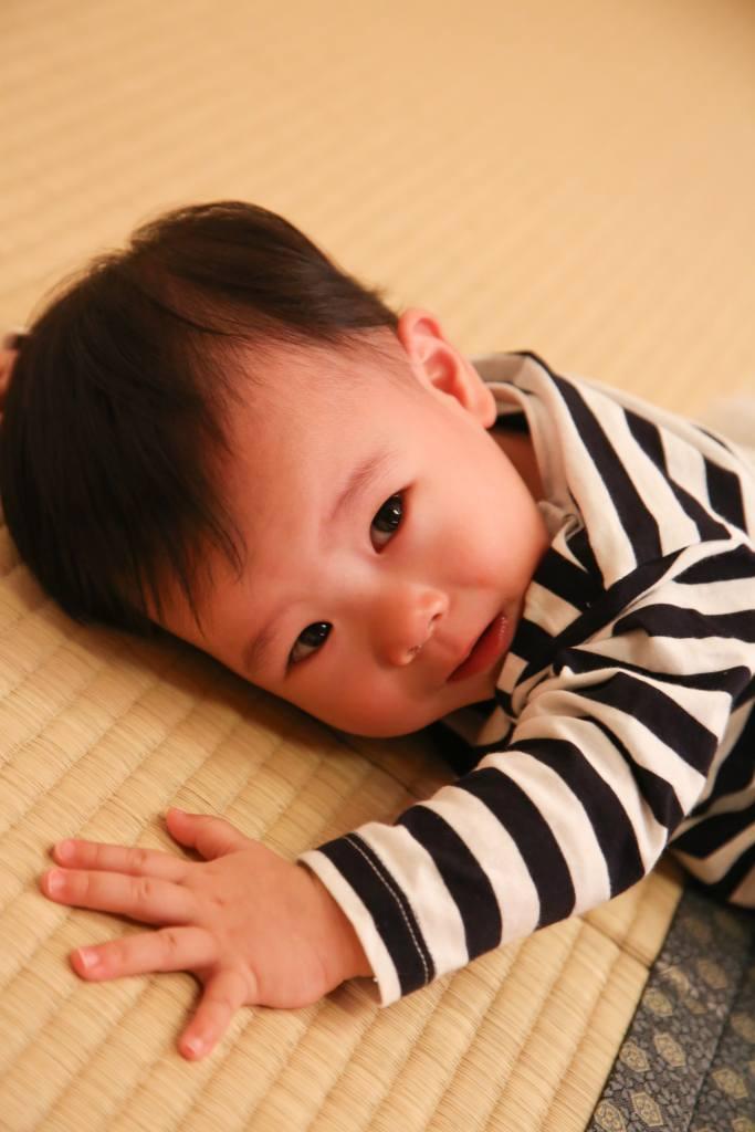 赤ちゃんお顔のアップ