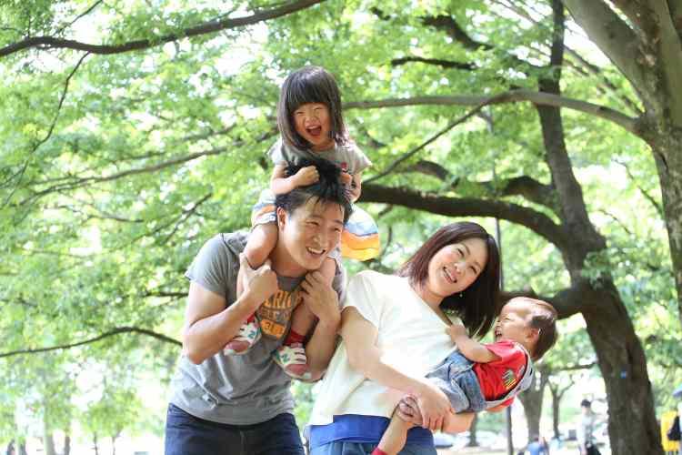 こむの木小金井公園撮影会家族写真