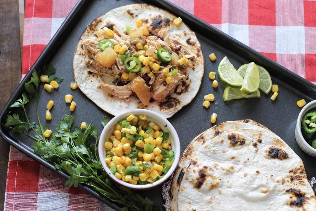 Easy Hawaiian Chicken Tacos