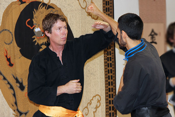 Adult Yellow Sash sparring at 5 Elements Martial Arts San Diego