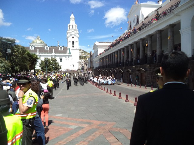 Changing of the guards in Quito. The president was there too.