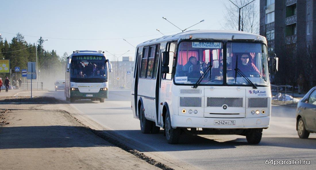 Автобус дорога Костомукша муп автотранспорт пассажиры