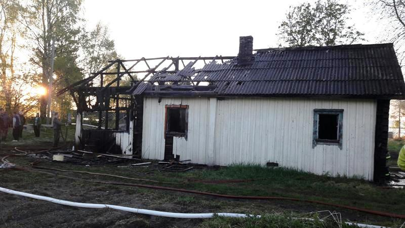 сгоревший дом Вокнаволок