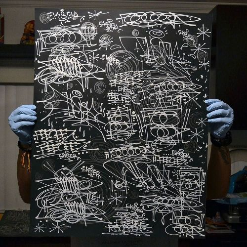 handstyler:  each one of these posters were hand executed by Feeceez (@feeceez) and Ekser (@3ks3r) and each one is totally unique - these are not prints. 22 in total are available. shipping worldwide for the Handstyler massive. #handstyle #graffiti #ekser #feeceez