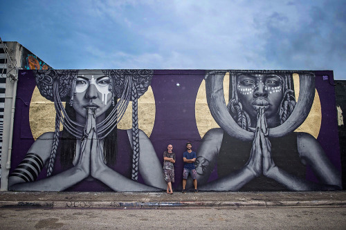 findac:The Sun Goddesses - a collaboration from Nov 15 between me and Kevin Ledo in Wynwood, Miami
