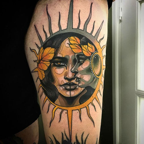 thievinggenius:  Tattoo done by Jef Small.