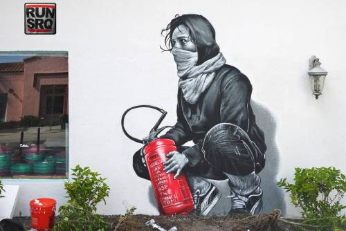 crossconnectmag:Street Art by MTO French-born, Berlin-based artist, MTO's work is characterized by incredibly detailed renditions of popular actors and musicians with a dash of red as his signature or around his work as a signifier of its boundaries. The photo-realistic nature of MTO's work, with the constant attention to small detail, makes it spring into life. Check our Twitter and Facebook for more original ArtSelected by Very Private Art