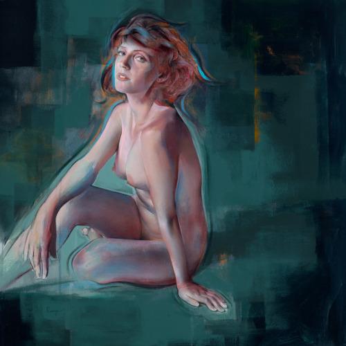 bizarrebeyondbelief:  Stunning expressive #portrait & #figure #painting work by visual artist Nick Runge.More here: http://wp.me/p2dpFM-41x