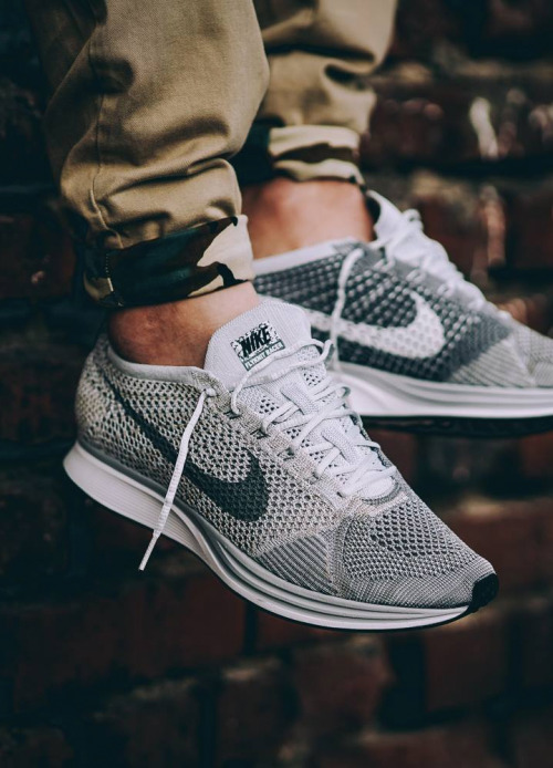 sweetsoles:  Nike Flyknit Racer 'Pure Platinum' - 2016 (by @pangeaproductions)