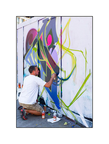 happoart:  Graffiti (Mr.Cenz), East London, England. http://ift.tt/2a98K5D