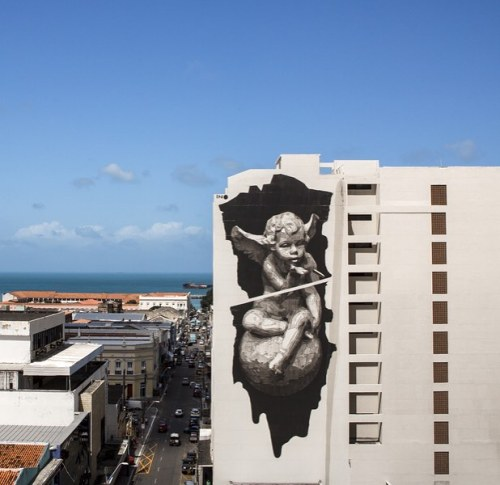 """streetartglobal:  """"Heaven and Hell on Earth"""" by @inoexpo. [http://globalstreetart.com/ino]#GlobalStreetArt #Ino https://www.instagram.com/p/BKeKz11jb07/"""