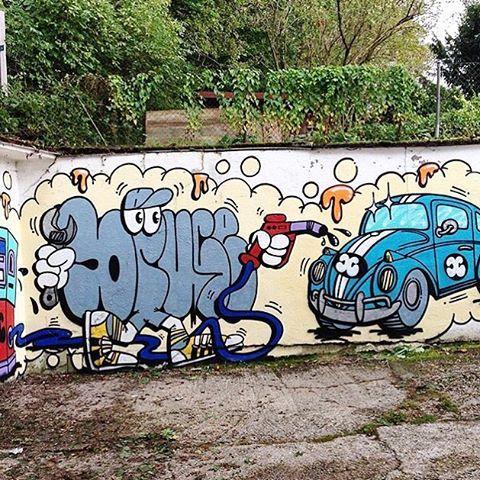 spraydaily:  💥 @bruceontherocks—#graffiti #SprayDaily #граффити #Grafiti #spraycanart #sprayart #Graffity #instagraff #instagraffiti #grafflife #bruceontherocks