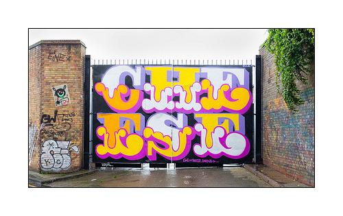 happoart:  Graffiti (Ben Eine), East London, England. http://ift.tt/24PShoA