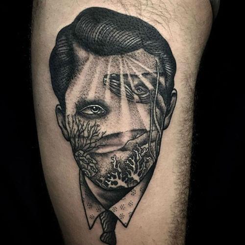 thievinggenius:  Tattoos done by Pietro Sedda.