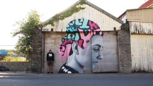 """streetartglobal:  """"Broken Promises"""" by @koeone_ from #devon #UK (http://globalstreetart.com/koe1) #globalstreetart #urbanwalls #graffiti #streetart https://www.instagram.com/p/BKZH27UjSM0/"""