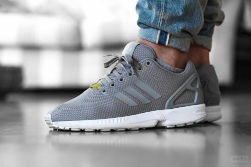 sweetsoles:  Adidas ZX Flux - Grey