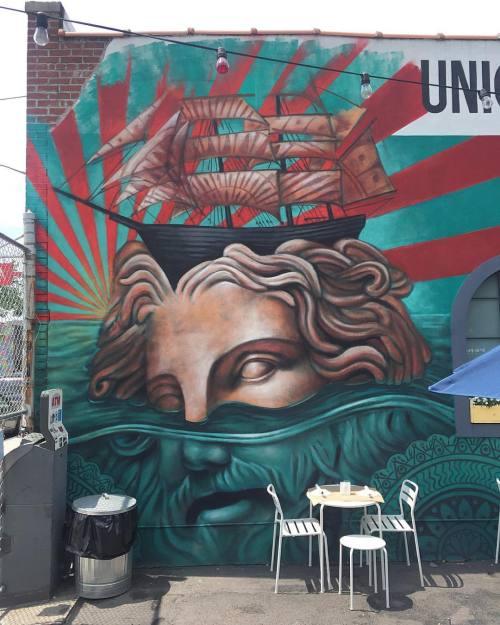 impermanent-art:  @beaustanton in Bushwick. _________________________#beaustanton #mural #art #nycart #urbanart #publicart #streetart #streetartnyc #nycstreetart #bkstreetart #brooklynstreetart #bushwickstreetart #bushwick #brooklyn #newyork #nyc #impermanentart (at The Rookery)