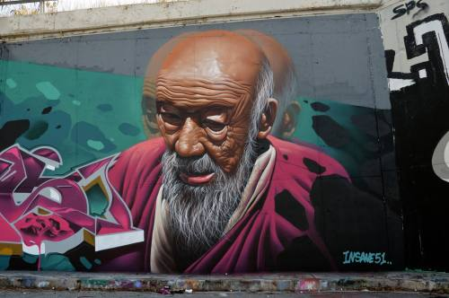 crossconnectmag:Street art by Insane51  Born in Athens in 1992. He made his first mural in 2006. Insane51′s predilection is clearly situated in photorealism on large walls or canvas. Recently, he began a great series of X-ray murals. A very promising artist on the Street Art scene! Check our Twitter and Facebook for more original ArtSelected by Very Private Art