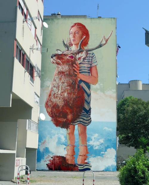 powwowblog:  New mural by @fintan_magee in Rome, Italy.