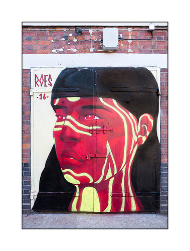happoart:  Graffiti (Roes), North London, England.. http://ift.tt/2cbh14g