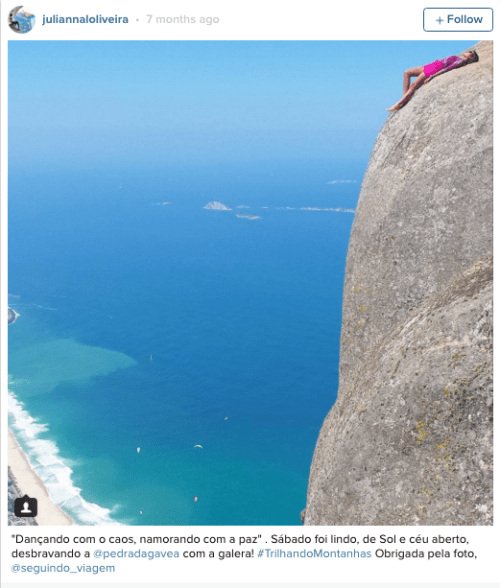 huffingtonpost:Rio de Janeiro's Pedra da Gavea Has To Be The Scariest Photo Op Of All Time