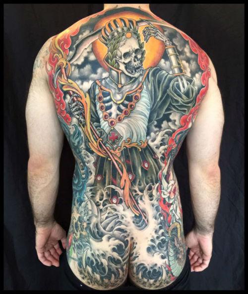 thievinggenius:  Tattoo done by Justin Weatherholtz.