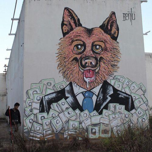 streetartglobal:  By @dinho_bento (globalstreetart.com/dinhobento) #globalstreetart #streetart #graff #walls #murals https://www.instagram.com/p/BFbrAOxAENe/