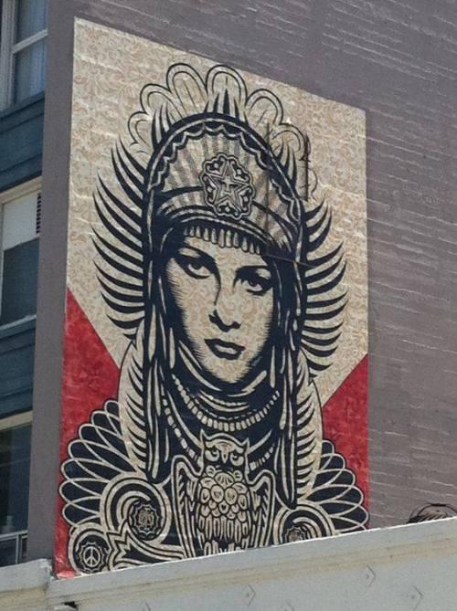 urbanartlab:Shephard Fairey / Obey Giant in LA